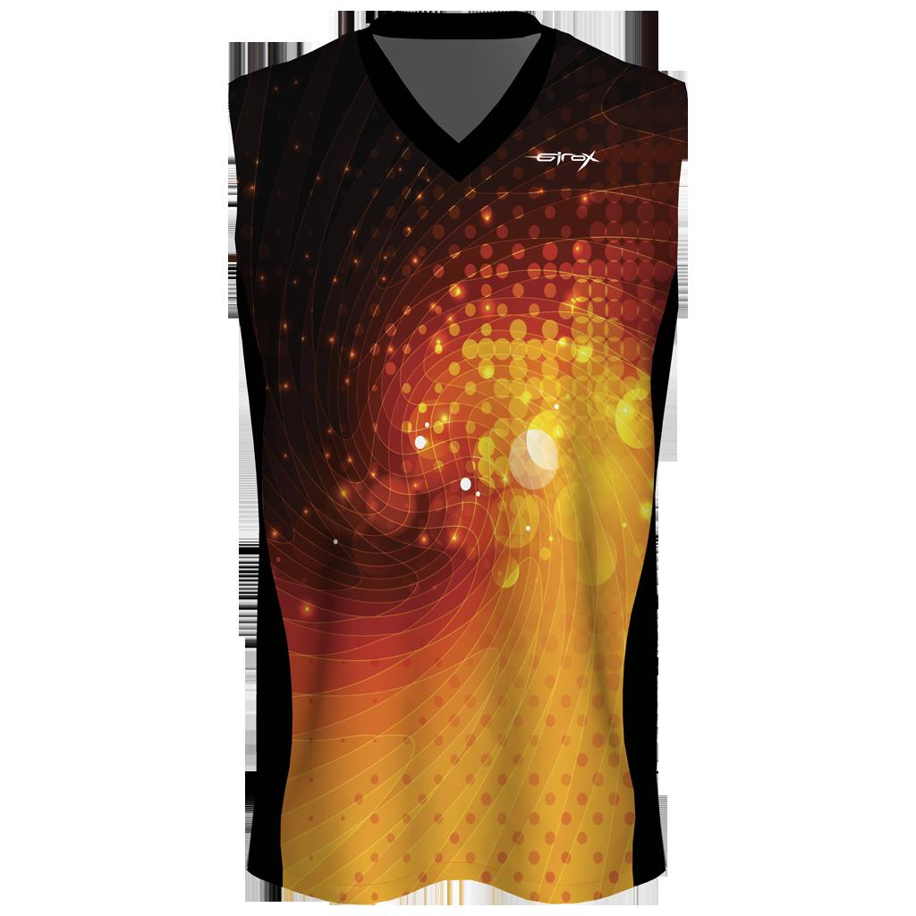 Custom Sublimated Basketball Jersey - Orange Galaxy