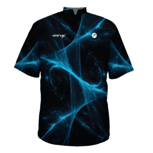 bowling shirt black blue