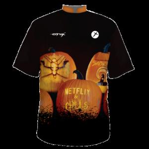 Halloween Bowling Shirt Netflix and Chills customize